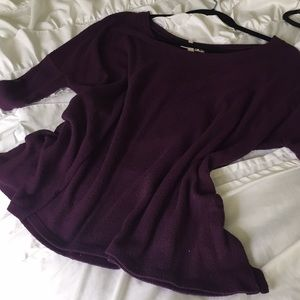 Purple slouchy top
